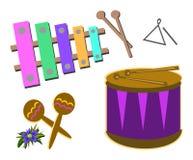 Mischung der Perkussions-Instrumente lizenzfreie abbildung