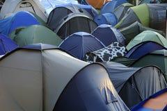Mischung der Zelte Stockfoto