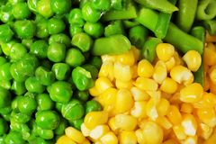 Mischung des gefrorenen Gemüses als Hintergrund lizenzfreies stockbild