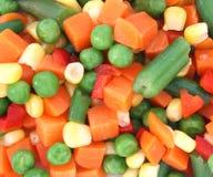 Mischung des gekochten Gemüses auf Platte Stockbilder