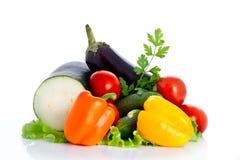 Mischung des Gemüses getrennt auf weißem Hintergrund Lizenzfreie Stockfotografie
