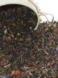 Mischung des Grünem, Schwarzem und Blumen-Tees lizenzfreie stockbilder