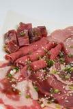 Mischung des rohen Fleisches Stockfoto