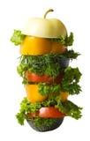 Mischung des verschiedenen Gemüses und der Früchte Lizenzfreie Stockbilder