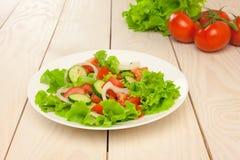 Mischung mit Tomate, Kopfsalat, Gurke Lizenzfreie Stockfotografie