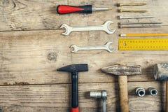 Mischung von Arbeitswerkzeugen Lizenzfreies Stockfoto