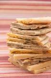 Mischung von den verschiedenen indischen Broten - naan Lizenzfreie Stockbilder