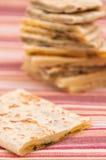 Mischung von den verschiedenen indischen Broten - naan Lizenzfreie Stockfotos