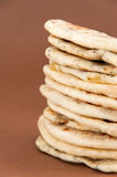 Mischung von den verschiedenen indischen Broten - naan Stockfoto