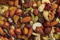 Mischung von Nüssen und von Samen stockfoto