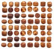 Mischung von portugiesischen folar Kuchen lizenzfreie stockfotografie