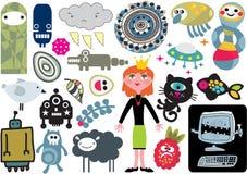 Mischung von Vektorbildern und -ikonen. vol.15 Lizenzfreies Stockfoto