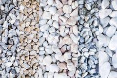 Mischung von verschiedenen Steinarten, vertikale Streifen Lizenzfreie Stockbilder