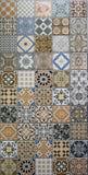 Mischungsmuster-Mosaikfliesen Stockbild