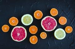 Mischzitrusfruchthintergrund Stockfotografie