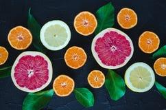 Mischzitrusfruchthintergrund Lizenzfreies Stockbild