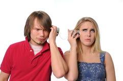 Miscommunication entre pares novos Fotografia de Stock Royalty Free