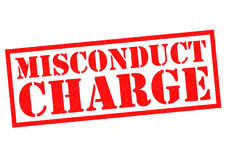 MISCONDUCT CHARGE Stock Photo