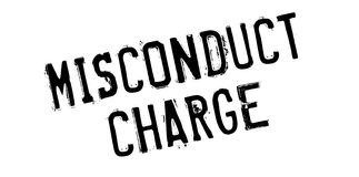 Misconduct Charge rubber stamp Royalty Free Stock Images