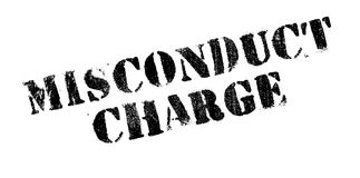 Misconduct Charge rubber stamp Stock Photos