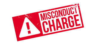 Misconduct Charge rubber stamp Royalty Free Stock Image