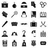 Misconduct icons set, simple style. Misconduct icons set. Simple set of 25 misconduct vector icons for web isolated on white background Stock Image