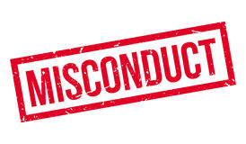 Misconduct rubber stamp royalty free illustration