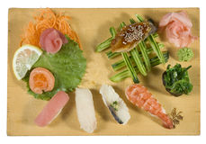 Miscuglio del sashimi e dei sushi Immagini Stock