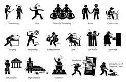 Misdaad en Misdadiger vector illustratie