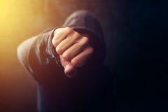 Misdaad, geweld en intimidatieconcept stock foto
