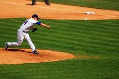 Mise à feu d'un fastball photographie stock
