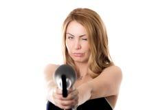 Mise à feu de hairdryer Image stock