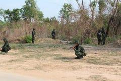 Mise à feu de réservoir d'armée photos libres de droits