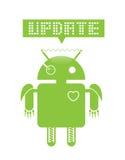 Mise à jour androïde illustration libre de droits