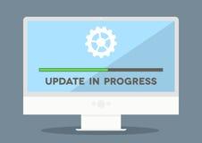 Mise à jour de PC Image stock