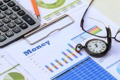 Mise à jour financière et économique d'actualités Photographie stock