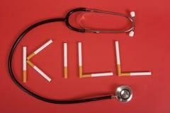 Mise à mort de cigarettes Images libres de droits