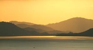 Mise en couches de coucher du soleil Image libre de droits