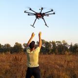 Mise en marche de l'hélicoptère photographie stock
