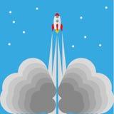 Mise en marche de la fusée Image libre de droits