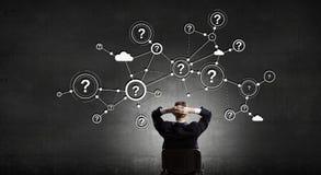 Mise en réseau d'affaires et concept de connexion rendu 3d Images stock