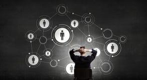 Mise en réseau d'affaires et concept de connexion rendu 3d Photographie stock libre de droits