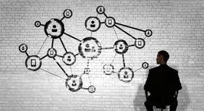 Mise en réseau d'affaires et concept de connexion rendu 3d Photo libre de droits