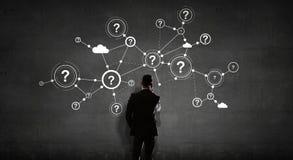 Mise en réseau d'affaires et concept de connexion rendu 3d illustration libre de droits