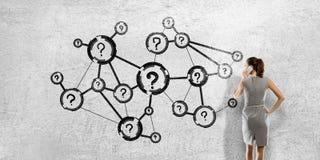 Mise en réseau d'affaires et concept de connexion rendu 3d illustration de vecteur