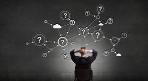 Mise en réseau d'affaires et concept de connexion rendu 3d Images libres de droits