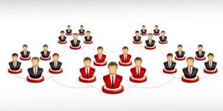 Mise en réseau d'homme d'affaires Photos libres de droits