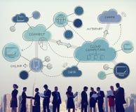 Mise en réseau de calcul de nuage reliant Concpet image stock