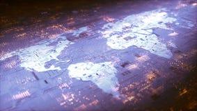 Mise en réseau de Digital du monde Photographie stock