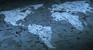 Mise en réseau de Digital du monde Photos libres de droits